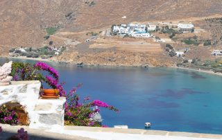 Accommodation View over Aegiali bay Amorgos
